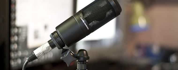 Audio Technica AT2020 Garageband